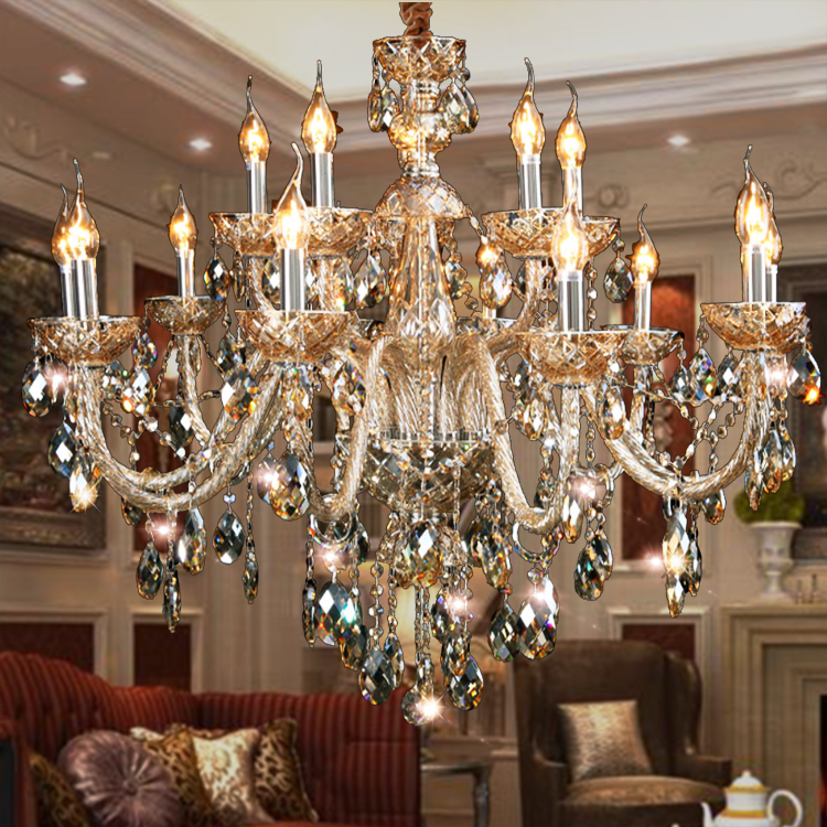 Large Fashion crystal pendant light living room crystal lamp bedroom pendant light k9 luxury E14 large new candle pendant lamp ems free shipping fashion pendant light cloth lamp cover crystal pendant light wrought iron candle lamp rustic lighting bq6 3