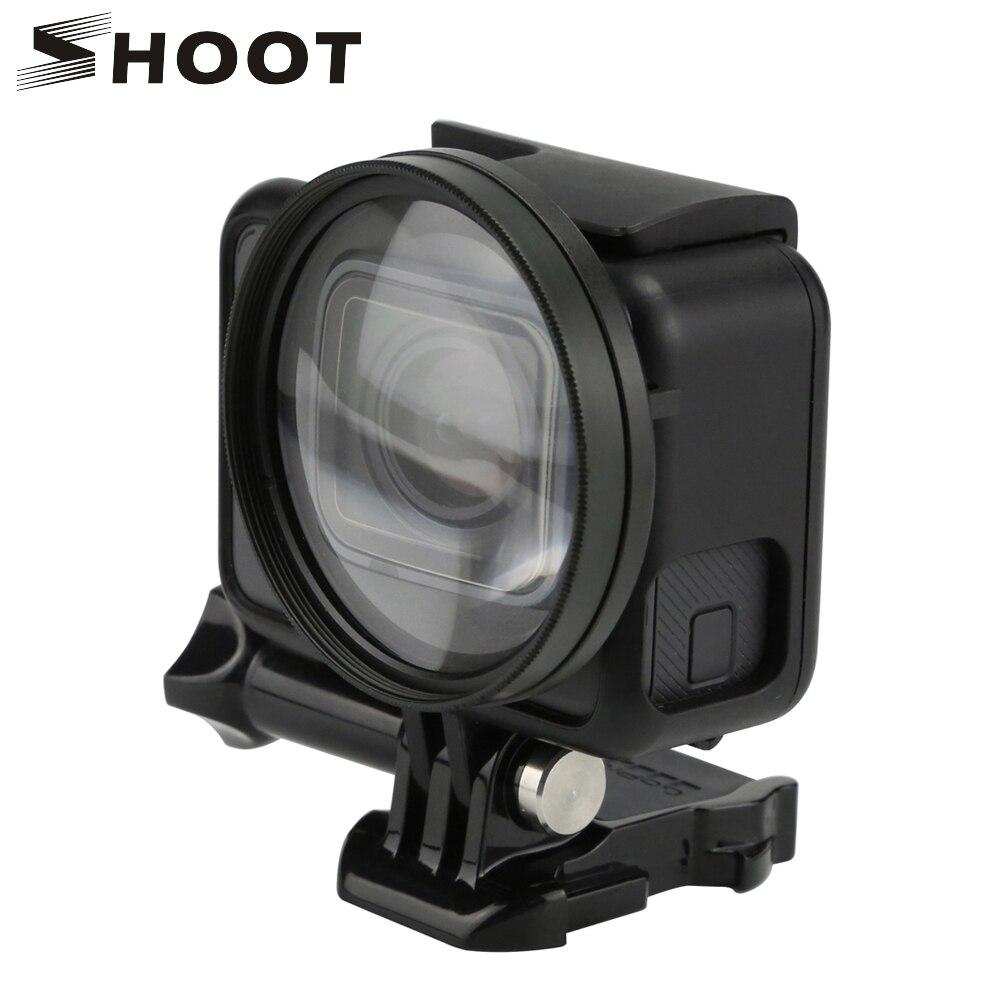 Disparar la cámara 52mm 10x ampliación Macro Close Up Filtro de lente con anillo adaptador para GoPro Hero6 5 acción negro accesorio de la cámara