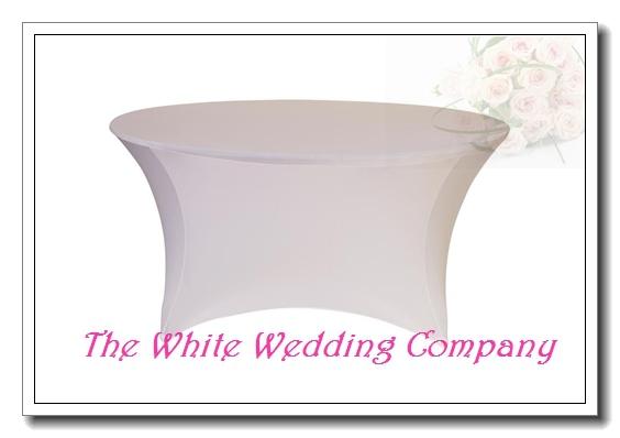 pies ronda strenth spandex blanco cubierta de tabla pao de tabla banquetes baratos manteles redondos