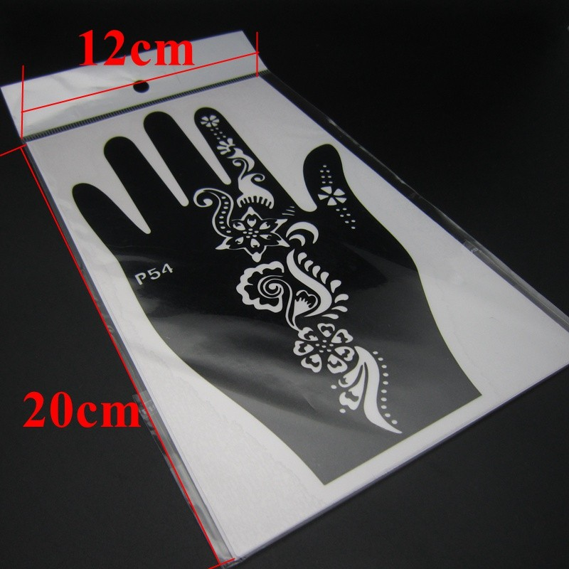 2 Pair Henna Tattoo Stencil Template Left Right Large Hand Stencil