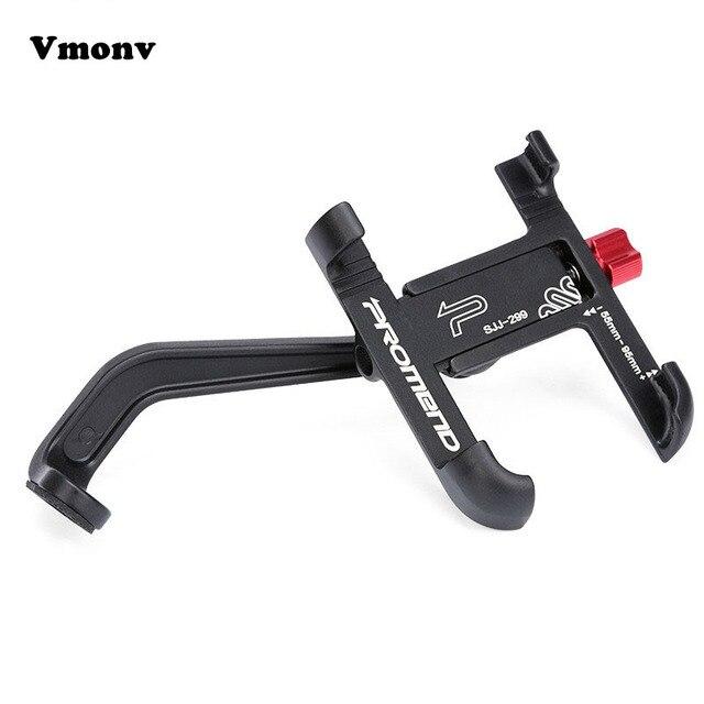 Vmonv אלומיניום סגסוגת אופנוע אופניים אחורית טלפון מחזיק עבור iPhone X 8P אוניברסלי אופני כידון Stand Sansung S8 S9 הר