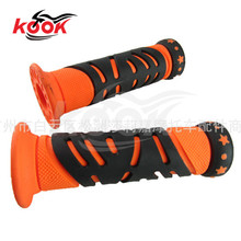 free shipping motorcycle rubber grips universal motocross handlebar grip for yamaha honda parts suzuki KTM kawasaki ATV orange
