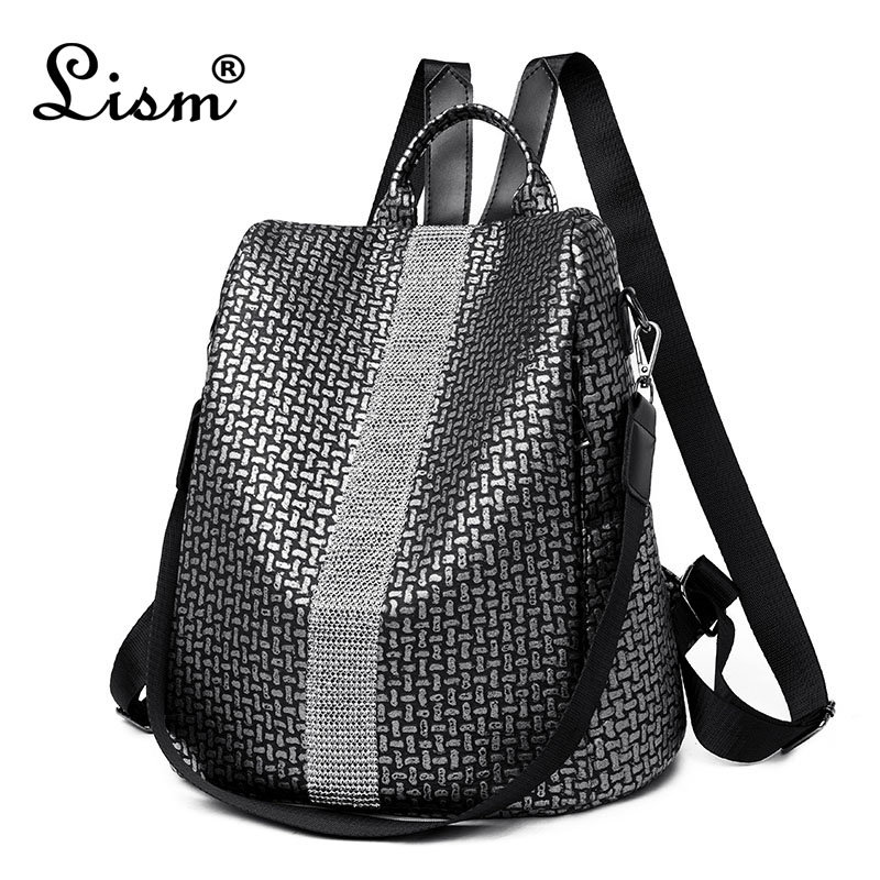 Women Fashion Bagpack Leisure Travel Backpack Soft Leather Elephant Pattern Bag Girls Bag Mochila Masculina Dropshipping #P30