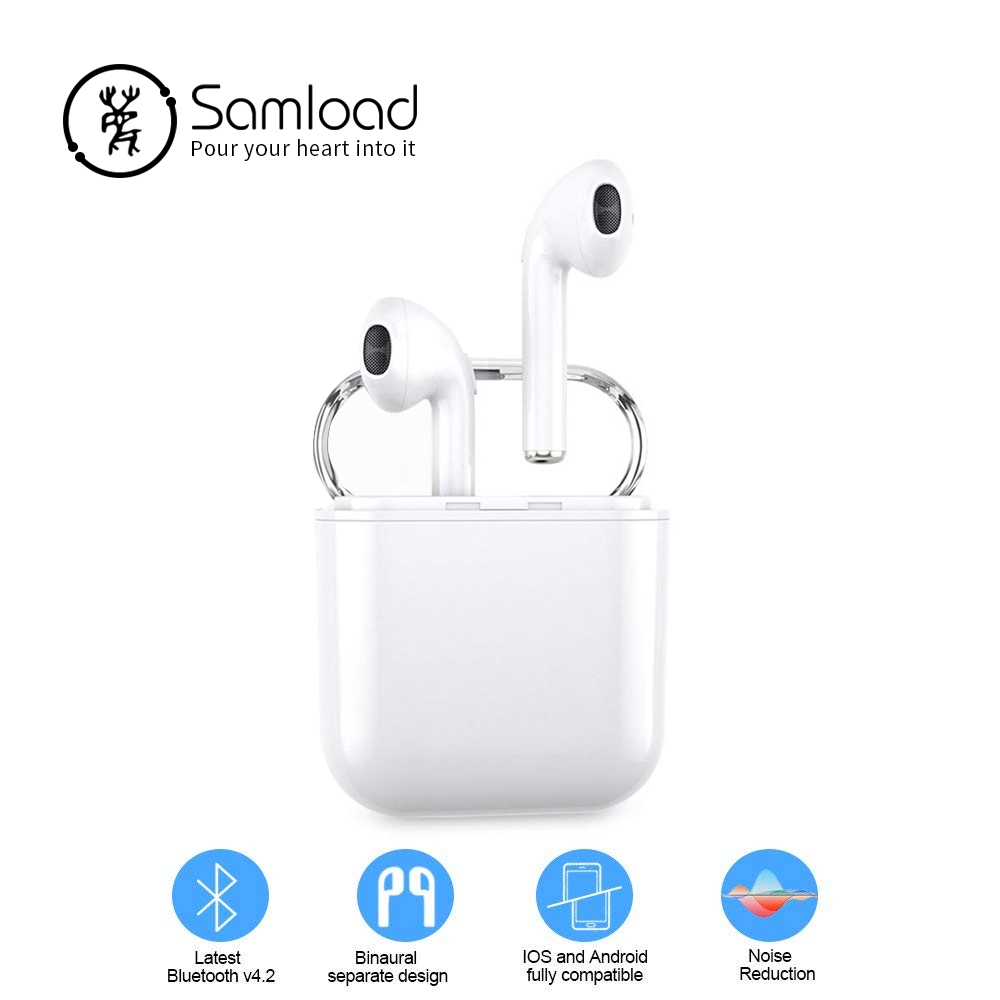 Samload Wireless Bluetooth Earbuds For Apple Stereo Earphones In-Ear Headset For Android Microphone For IPhone X/6/7/8 Huawei