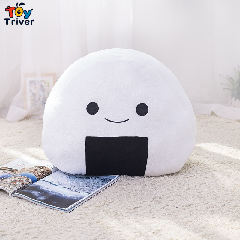Plush Japan Sushi Rice Pillow Office Nap Chair Sofa Back Cushion Home Shop Decoration Baby Girl Boy Kids Birthday Gift Triver