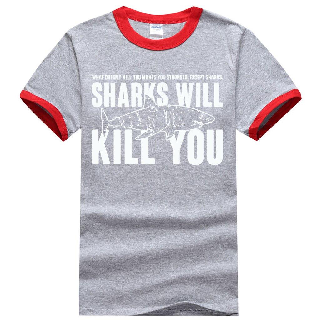 """""""Sharks will kill you"""" Shark T-Shirt for Men 9"""