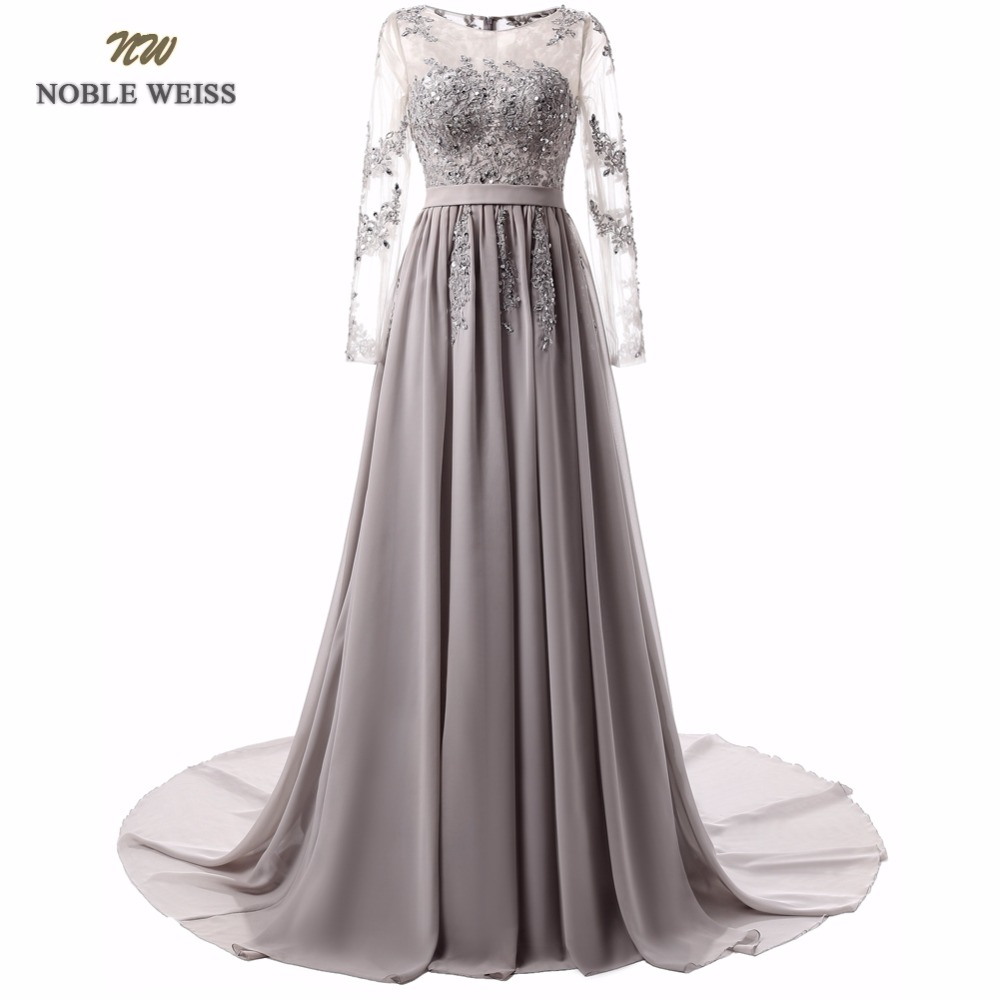 NOBLE WEISS Evening Dresses A line Appliques Beading Special Occasion Dresses New Arrival Custom Made Chiffon