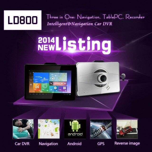 LD800 Car DVR Recorder 5.0 Inch Andoid 4.0 with GPS Navigation+Tablet+Rearview Mirror Camera 1080P RAM 1GB G-sensor Wifi FM