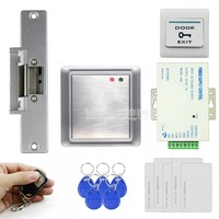 DIY Strike Lock Waterproof Remote Control 125KHz Rfid ID Card Reader Without Keypad Access Control System