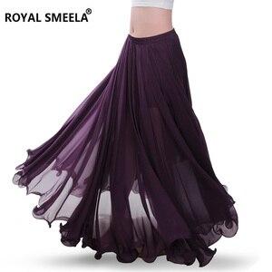 Image 2 - Phụ Nữ Mới Thiết Kế 720 Độ Vẫy Tay Múa Bụng Váy Bellydance Đầm Vũ Vải Thực Hành Mặc Biểu Diễn Múa Bụng Trang Phục