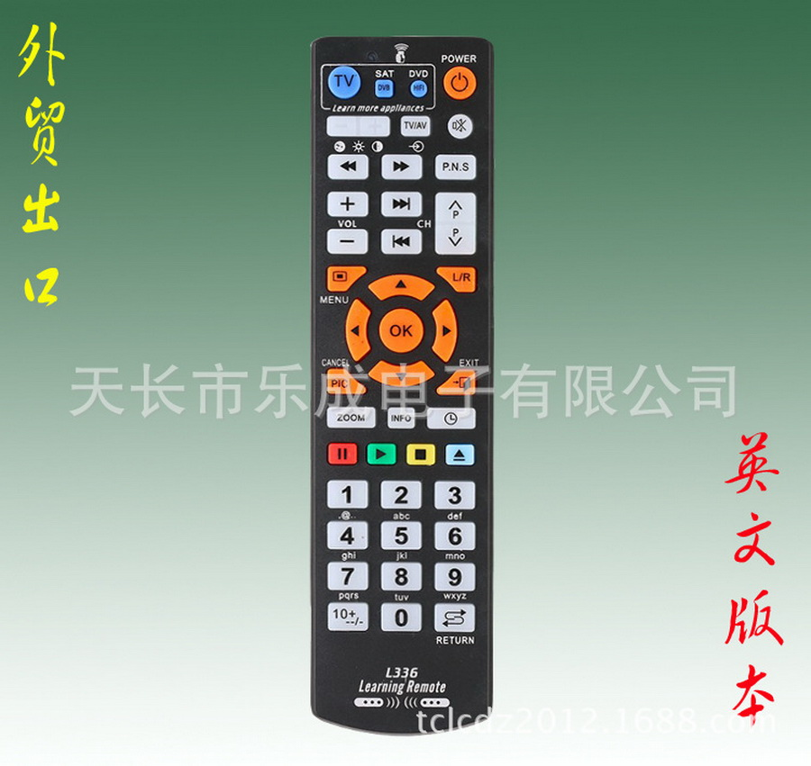 50pcs L336 Universal TV Remote Control Wireless Smart Controller With Learning Function Remote Control For Smart TV DVD SAT