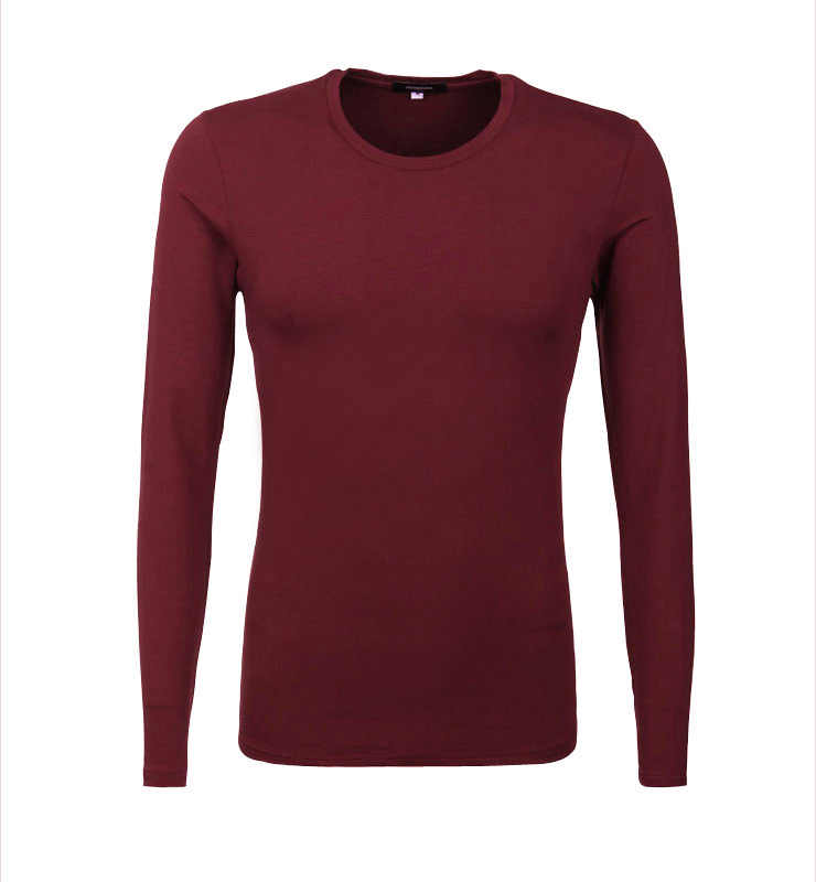 Все новые тонкие мужские футболки с круглым вырезом и длинным рукавом, Базовая рубашка saints, термальная майка, мужские футболки на осень и весну, 9 цветов, T832
