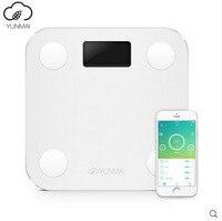 La Venta caliente Mini Blanco Inteligente YUNMAI Soporte Premium Bluetooth APP Balanzas Domésticas de Porcentaje de Grasa Corporal Digital de Grasa Corporal Báscula
