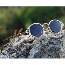 e600b1194 MINCL 2019 خمر الراب النظارات الشمسية الرجال النساء الشرير نمط الهيب هوب  صغيرة مستديرة معدنية إطار نظارات الرجعية مع مربع NX
