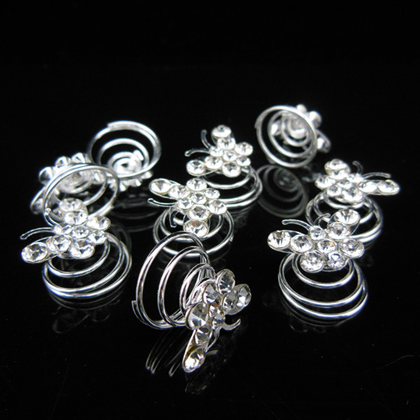 2015 New Fashion 120 Pcs Butterfly Bridal Wedding Prom Crystal Rhinestone Twists Spins Hair Pins Hair Clips Hair Accessory in Hair Jewelry from Jewelry Accessories