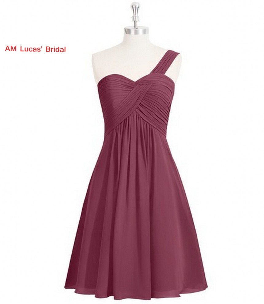 New Simple Cocktail Dress Pleat Knee Length Prom Party