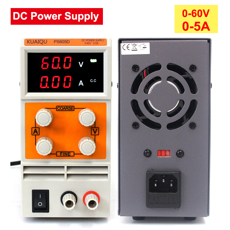 Mini DC Power Supply 0-60V 0-5A,Switching power supply, Digital Variable Adjustable power supply For Laboratory School Etc. power supply for pc7068