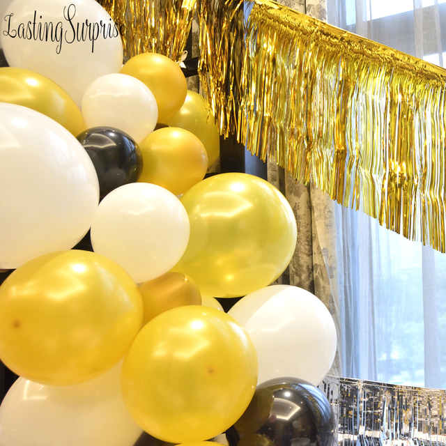 Black White Gold DIY Party Balloon Decoration Birthday Decorations Adult 36 Gaint Helium Deco Anniversaire