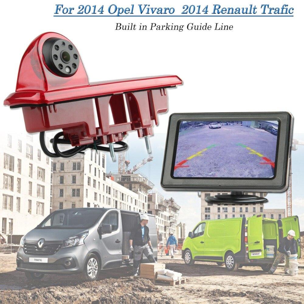 Vardsafe Backup Rear View Brake Light Camera For Opel Vivaro Vauxhall Vivaro Renault Trafic 2014