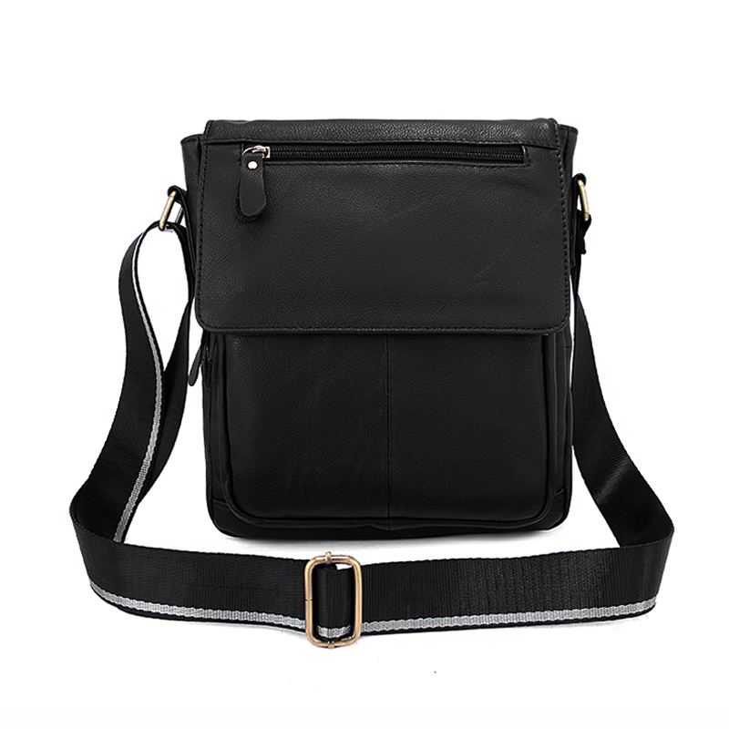 100% Genuine Cowhide Leather Men Shoulder Crossbody Bag Man Messenger Bag Leisure Business Bags Top Fashion Flap Bag Promotional