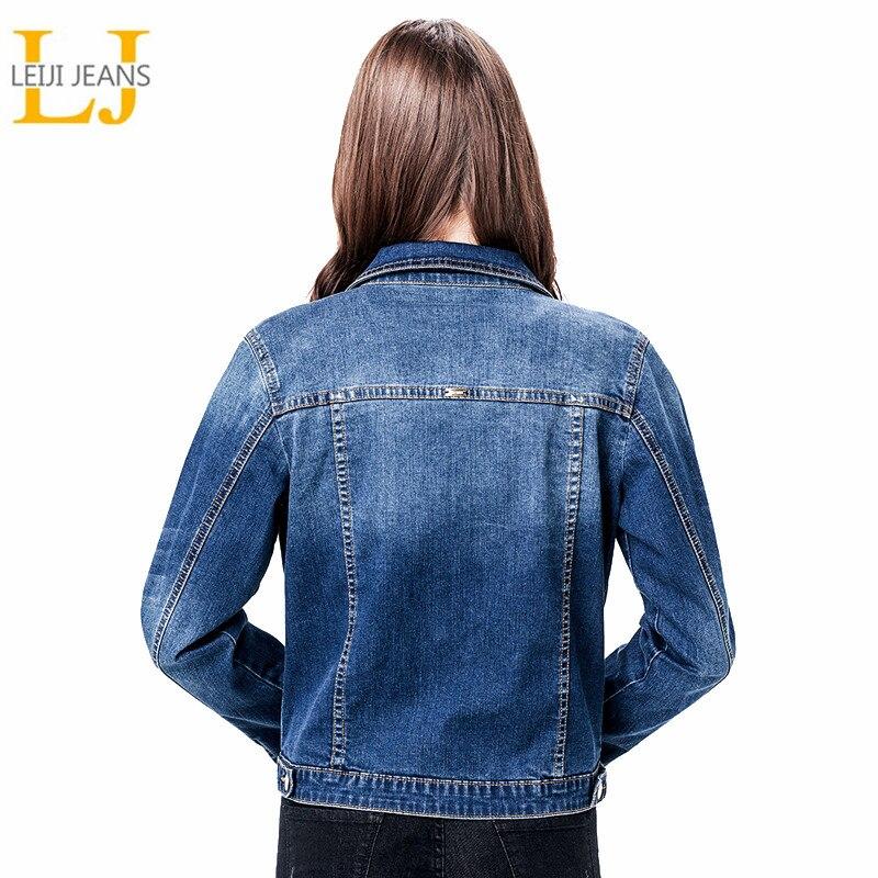 2019 Leijijeans Frauen Plus Größe 6xl Lange Grundlegender Jeans Jacke Mantel Bleach Volle Hülsen Einzelne Brust Dünne Frauen Denim Jacke Ausreichende Versorgung