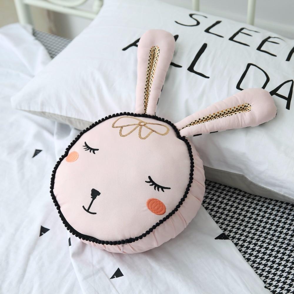 Us 16 55 51 Off Schöne Rosa Kaninchen Cartoon Kissen Kinderzimmer Dekoration Kissen Baby Ruhig Schlafen Puppen Angefüllte Spielwaren Für Kinder