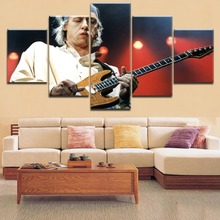 Modern HD Top-Rated Printing 5 Pieces Musician And Guitar Poster Music Painting Framework Home Decorative Living Room