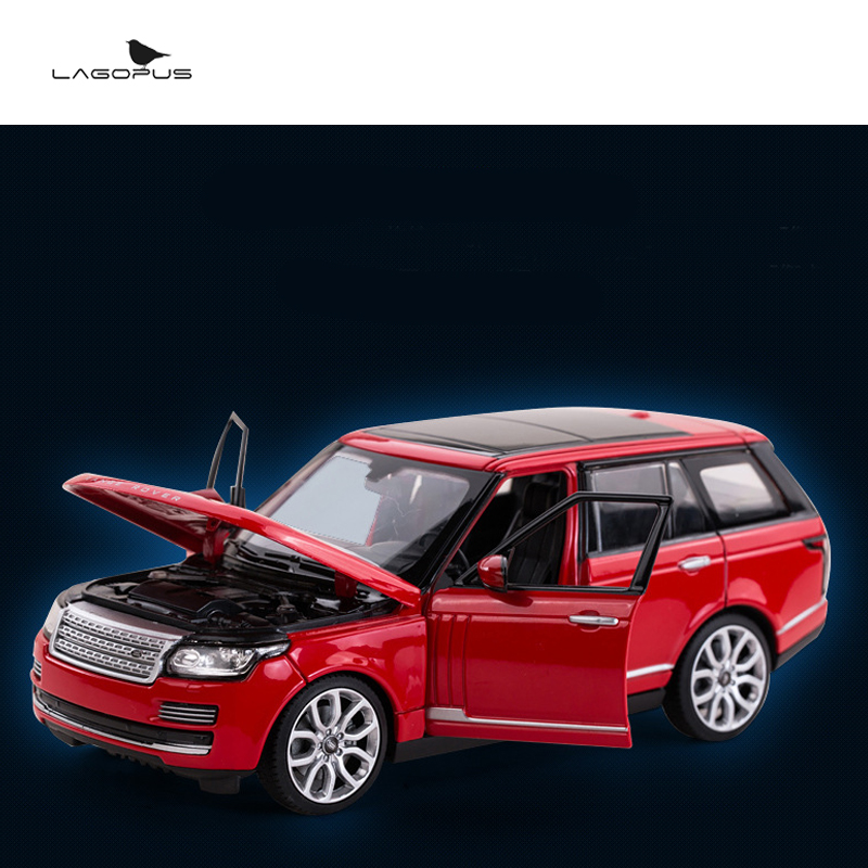 High Simulation 1:24 Scale Car Toys Metal  ROVER SUV Diecast Race Cars Vehicle Model Toy Collection Gift for Kids New maisto jeep wrangler rubicon fire engine 1 18 scale alloy model metal diecast car toys high quality collection kids toys gift