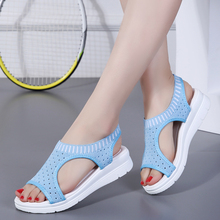 Plus size 35-44 Women Sandals Female Shoes Woman Summer Wedge Comfortable Sandals Ladies Slip-on Flat Sandals Women Sandalias