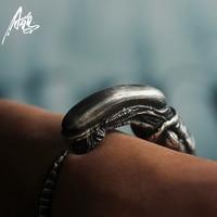 Unique Customize Alien Predator AVP Alien Larvae Bracelet Alien Silver Baby Bracelets Adjustable Jewelry Bangle COOL Gift