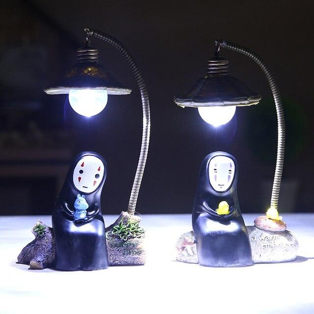 Studio ghibli no face man светодиодной night light миядзаки хаяо унесенные призраками kaonashi сенсорный лампа дети лампа для чтения спальня украшение