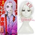 Free Shipping 40cm Synthetic Short White Anime Tokyo Ghoul Suzuya Jyuzo Cosplay Wig