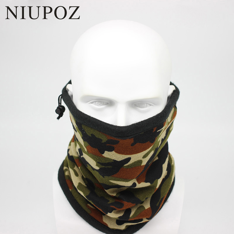 Headband Scarf Camouflage-Bandana Winter Solid Tubular Warm Fashion Unisex Moto Seamless
