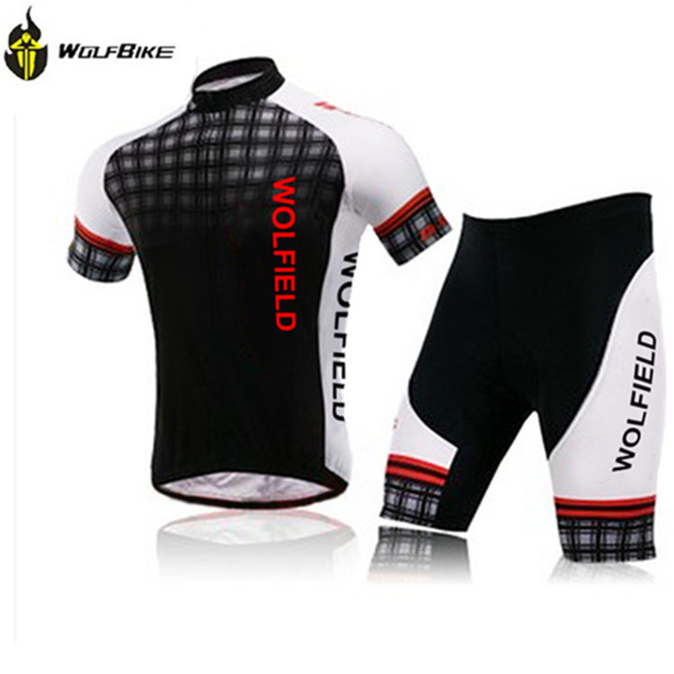 Men cycling jersey MTB Jersey Mens riding clothing Short sleeve Sportswear Anti-sweat Quick Dry Breathable WOLFBIKE