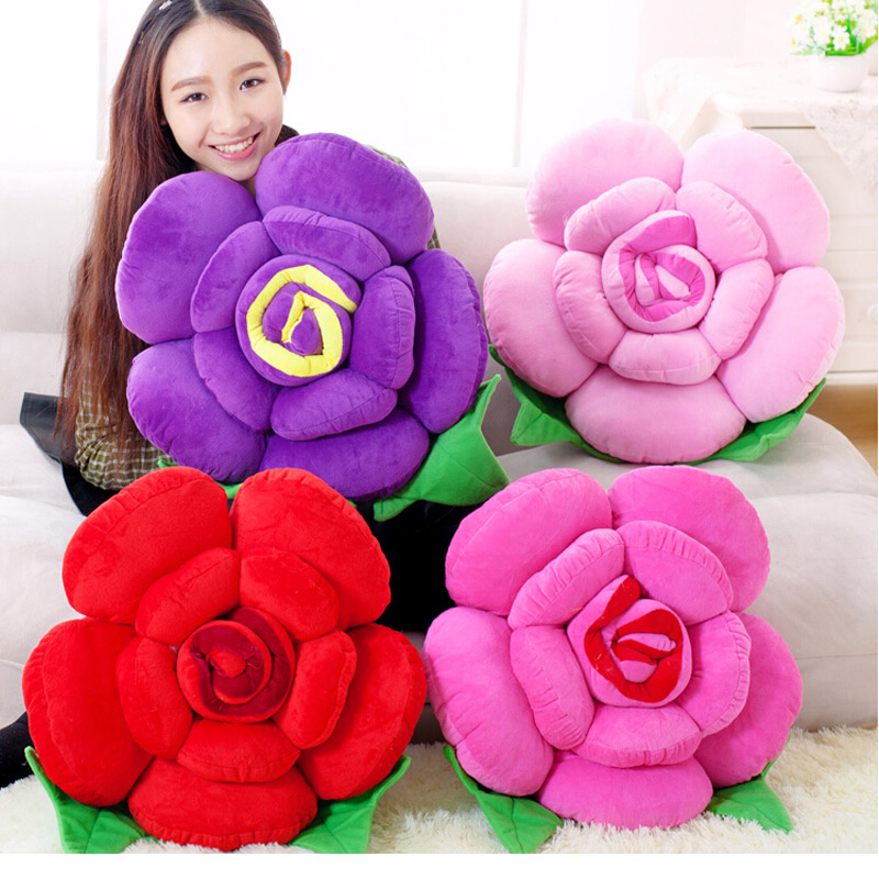 25-48CM at home decorate Essential Universal Floral Lumbar pad headrest Hold pillow Home throw pillows Sofa Rose Pillow авточехлы зимние the old pad at home