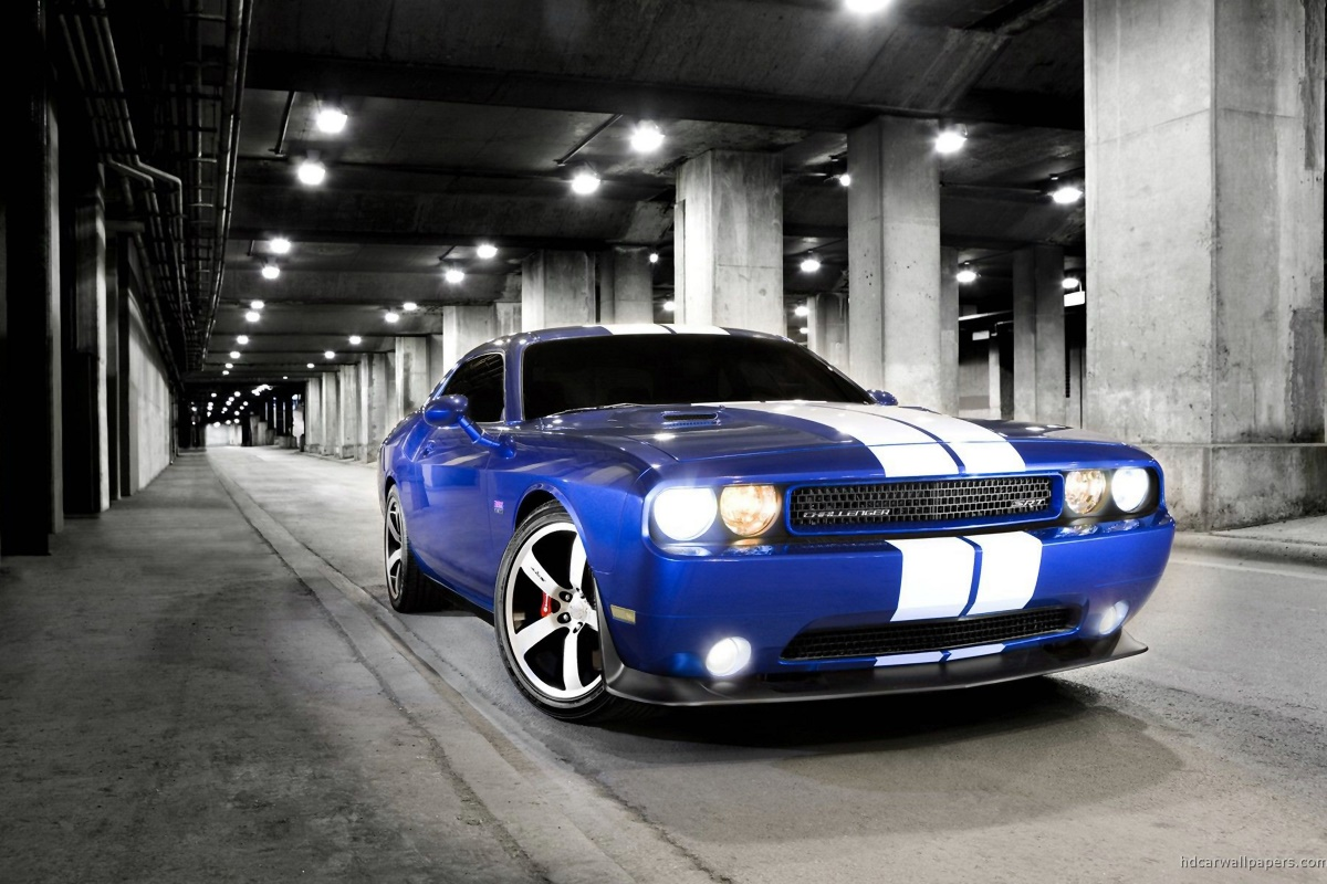 Challenger cool retro classic muscle sports car KC260 Living room home wall modern art decor wood frame fabric poster