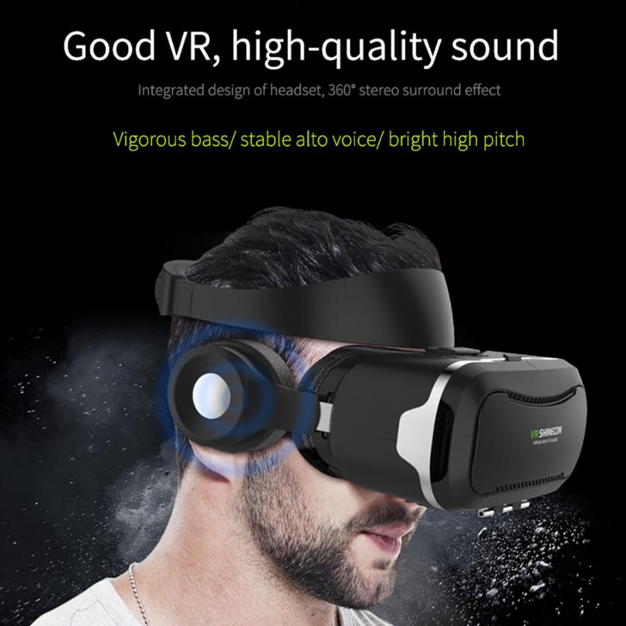 2017 Top SALE  VR Shinecon Headset Virtual Reality 3D Glasses For iPhone 6s/7 for Samsung S5/S6/S6 Edge for Xiaomi 6 for Huawei