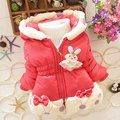 fashion children girls winter warm hooded coat jackets children outerwear&coats outerwear parkas kids clothing S1961