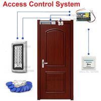 IP68 Водонепроницаемый 125 кГц RFID двери Система контроля доступа комплект 600lbs магнитный замок + + Питание + 10 брелоков + дверь датчик