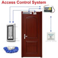 IP68 Waterproof 125kHz RFID Door Access Control System Kit 600lbs Magnetic Lock Switch Power Supply 10