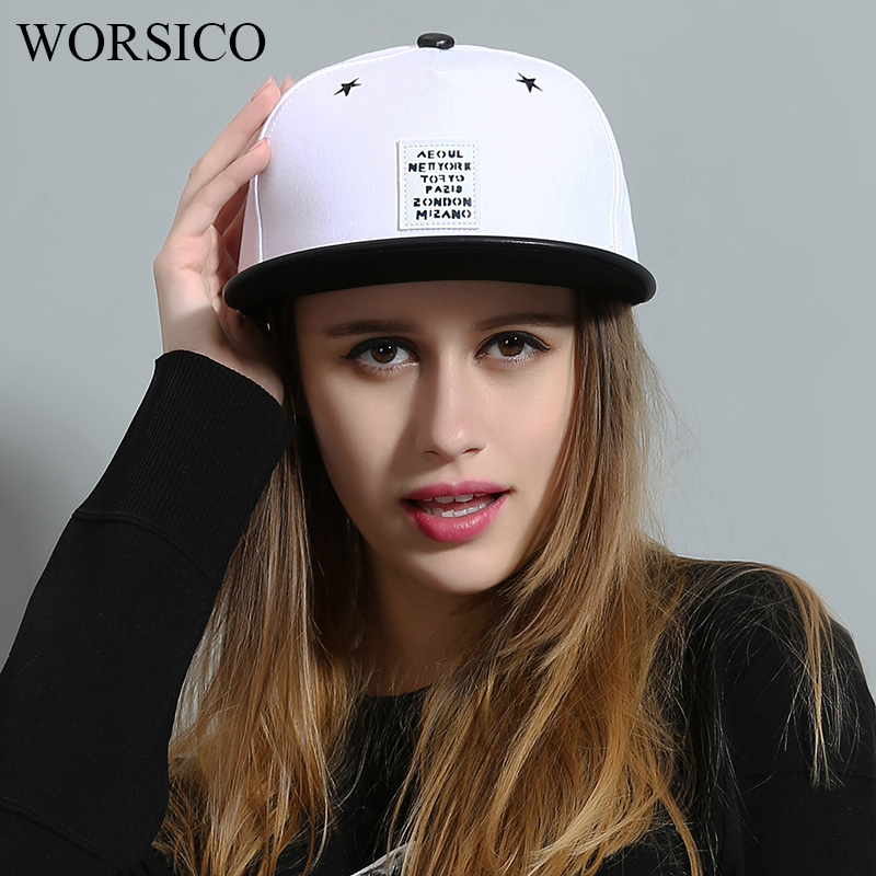 WORSICO High Quality Autumn Adjustable Hip Hop Cap Women Men Cotton Fitted Baseball Caps Male White Black Snapback Dad Hat Truck