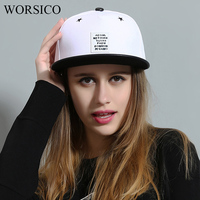WORSICO High Quality Autumn Adjustable Hip Hop Cap Women Men Cotton Fitted Baseball Caps Male White