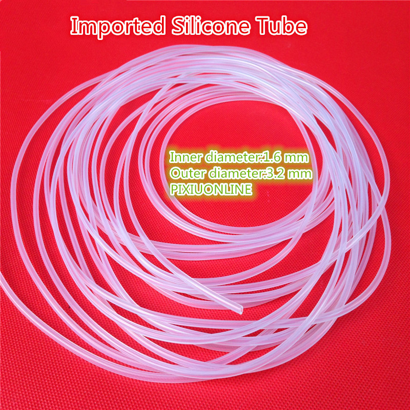 1PCS  YT827  Imported Silicone Tube Food Grade Capillary Transparent Hose ID 1.6 mm*OD 3.2 mm   Plumbing Hoses  1Meter