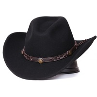 Unisex Warm Comfortable Dakota Crushable Wool Felt Western Cowboy Casual Hat