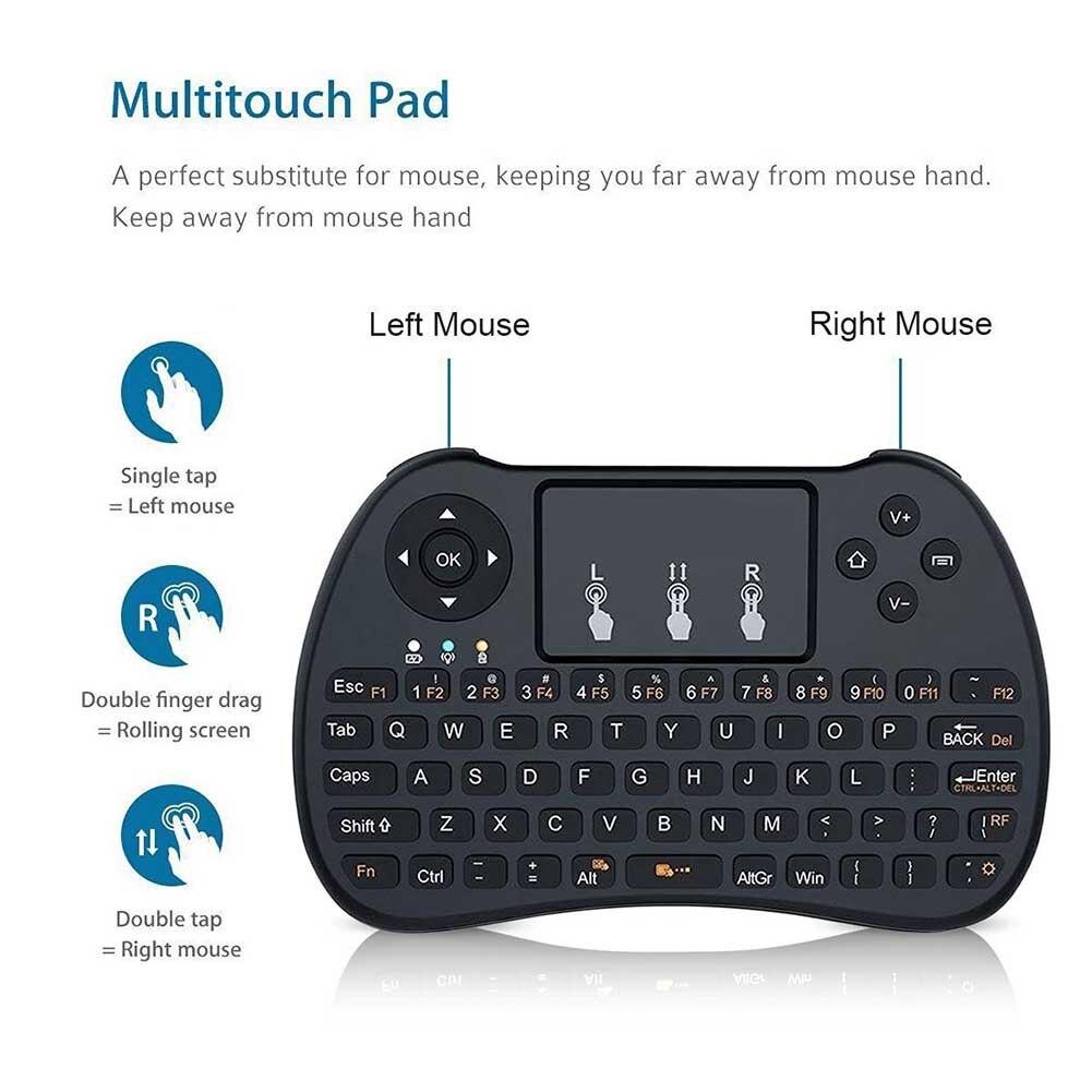 2.4 GHz Mini Wireless Backlight touchpad teclado para PC pad Xbox 360 PS3 Google Android TV box IPTV htpc EM88