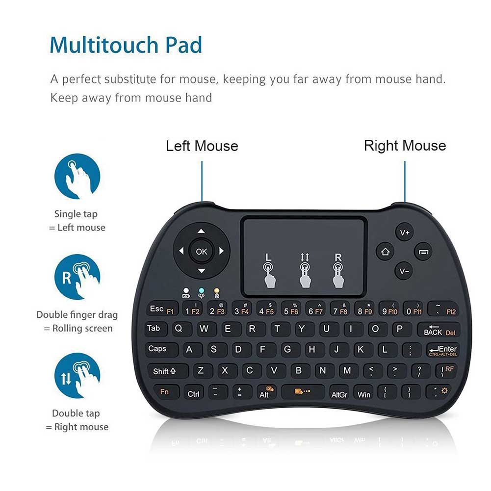 2.4GHz Mini Wireless Backlight Touchpad Keyboard For PC Pad Xbox 360 PS3 Google Android TV Box HTPC IPTV EM88