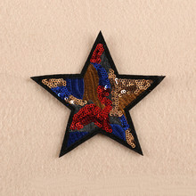DOUBLEHEE Contrast Color Stars Embroidered Patches For Clothing Iron On Close Shoes Bags Badges Embroidery