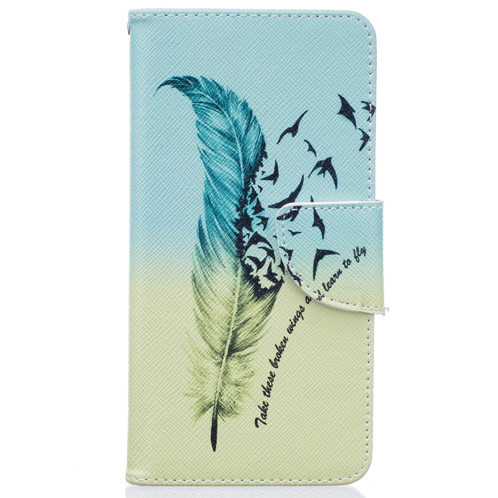 Cartera de cuero para cajas de LG K7 K8 foto Retro marco Funda de cuero PU Flip caso de la tarjeta titular del teléfono cubierta de la bolsa