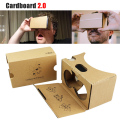 Thick Hard Cardboard 2.0 VR BOX Headset kit DIY 3D Glasses Virtual Reality For iPhone Android 4-6 Mobile Phone with Head Strap