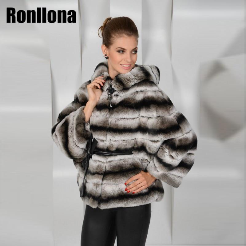 001 De Noir Réel Fourrure Peau Costume Rex D hiver Rb Naturel Nouveau  Véritable Capuche Manteau Femmes Lapin Chinchilla Avec ... 329daa9f7e0b